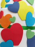 ^ Hearts on the cake