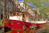 Barge on Amsterdam canal
