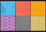 Color fabric collage