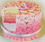 Ombre cake @ Cute sweet things