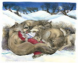Little Red Reading to the Wolves