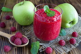 Smoothie-Apples with Raspberry
