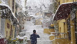 Snowfall in Athens