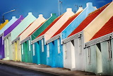 Colorful houses in Curaçao, Caribbean island