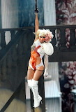 Lady Gaga rocked a bloody, gory getup on stage as she performed