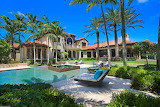 Spanish Revival style luxury villa and pool