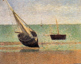 Low Tide At Grandcamp by Georges Pierre Seurat