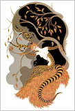 Autumn Tiger Nude by Erte