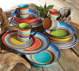 ^ Tequila Sunrise dinnerware collection