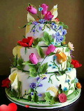 #Flowery Wedding Cake