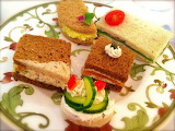 #Beautiful Afternoon Tea Party Plate of Goodies