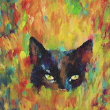 Cat abstract art