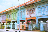 Colorful terraced houses singapore