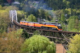 Southern Pacific Railroad #4449 Near Milwaukie, OR