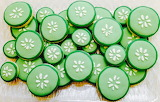 Rotate the cucumber cookies @ Busy Bee Cakery