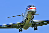 American Airlines Jet Inbound to Washington National Airport