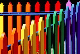 ☺♥ Colorful fence...