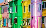 Vibrant colored houses