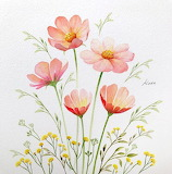 Orange-flowers-watercolor-painting-step-by-step ArchZine