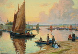 Boats at Concarneau. Mathurin Janssaud