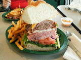 ^ Dagwood sandwich and fries