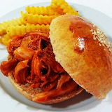 ^ Pork barbecue and fries