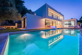 Luxury modern white villa and pool in Mallorca