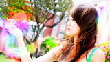 Asian girl colorful