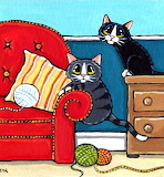 Cats with Yarn