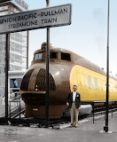 Union Pacific M10000 on display at the 1934 World's Fair