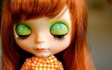 Close eyes beautiful doll new