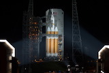 Moblie Service Tower Rolled Back for Orion Flight Test
