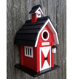 Colorful Red Barn Bird house