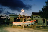 ^ Christmas decorated boat in Greece