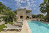 Luxury rustic stone villa and pool in Corfu