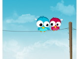 Two twitting on rope