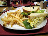 ^ Egg salad sandwich and fries