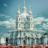 ☺♥ Smolny Convent of the Resurrection in Saint Petersburg, Russi