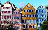 Colorful houses row