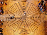 Labyrinth of the Chartres Cathedral in France