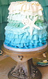 Blue ombre cake @ Cake Central