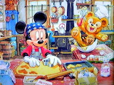 Mickey cooking