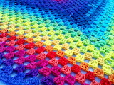 Rainbow Crochet Granny Square
