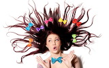 Rocking woman hairstyle funny