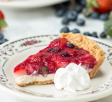 Strawberry blueberry pie