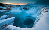 Beautiful Iceland - Goðafoss in winter