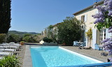French luxury white villa and pool