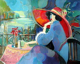 Isaac Maimon - Angelica in a Red Hat