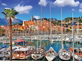 Old town and port of Menton