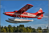 Floatplane flying Lake Hood Anchorage Alaska